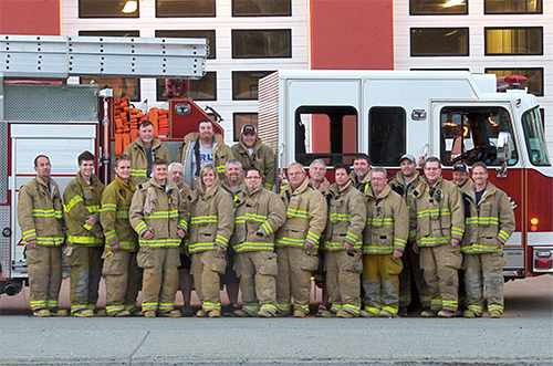 The members of the Lake Cowichan Fire Department
