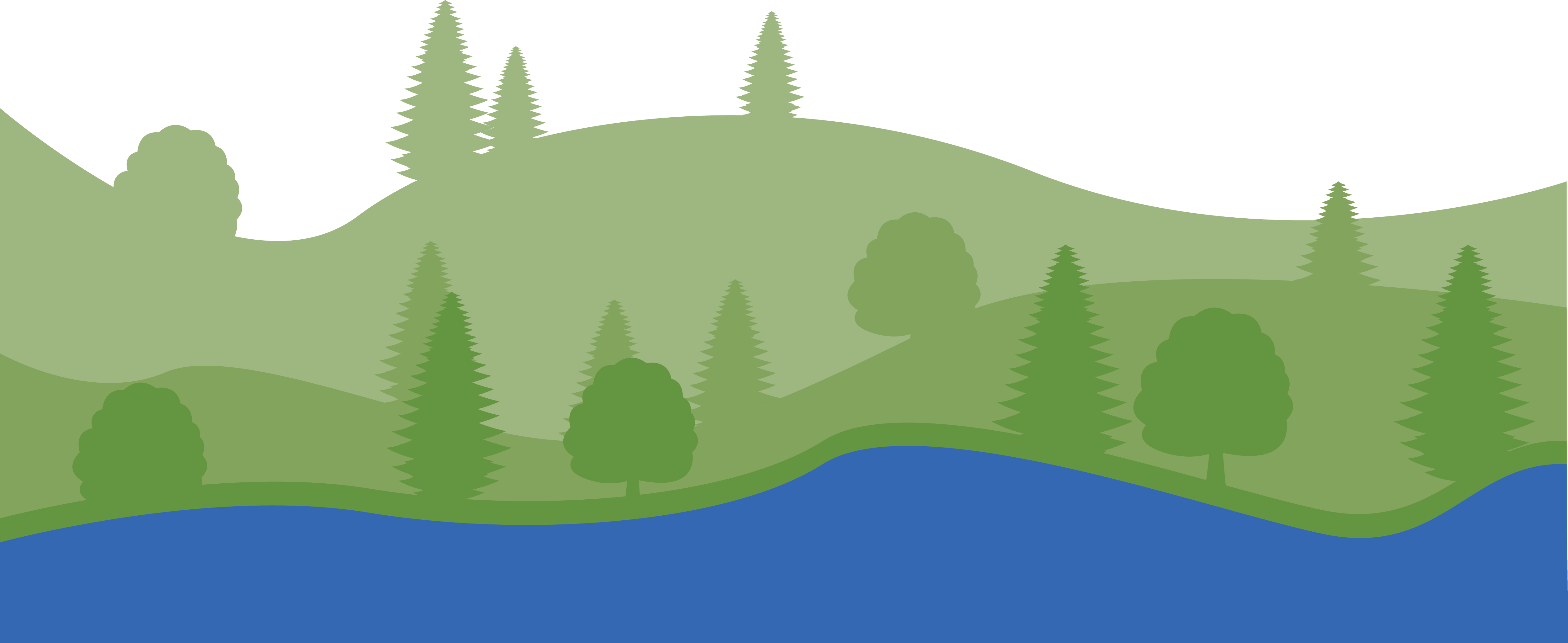 Illustration of mountains and trees